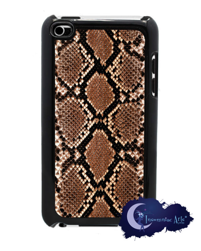 Snake Skin, Animal Print - Cover for iPod Touch 4th Generation - Black Case