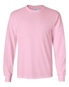 Gildan NEW Adult Ultra 100% Cotton Long Sleeve T-Shirt 2400 Mens Size S-5XL Tee