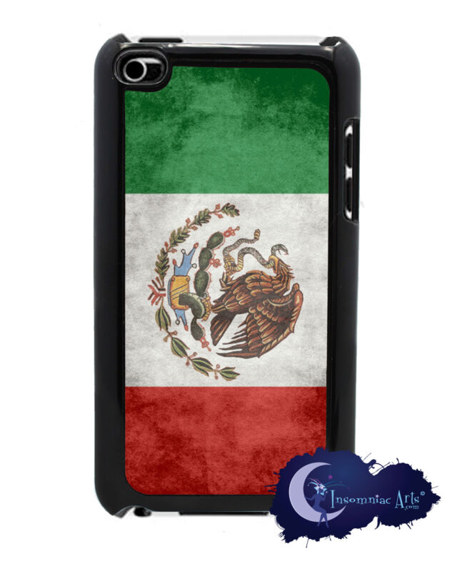 Mexican Flag Cover for iPod Touch 4th Generation - Mexico - Black Case Sides