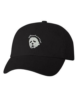 Michael Myers Halloween EMBROIDERED Custom Unstructured Dad Hat Cap - Halloween Caps
