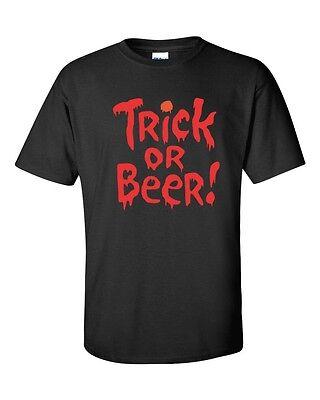 TRICK OR BEER Halloween Party College Drinking ORANGE Prnt Men's T-Shirt 343