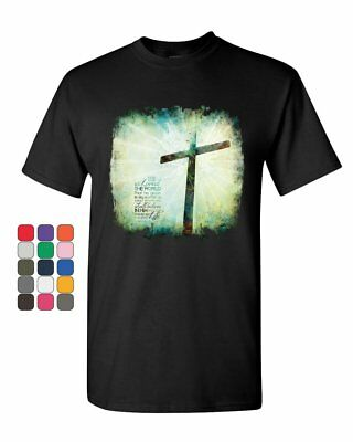 For God so Loved the World T-Shirt Lord Savior Jesus Christian Mens Tee (For The Lord So Loved The World)