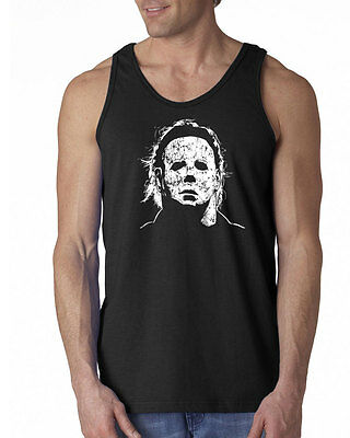 010 Halloween Mask Tank Top scary movie 70s party culture horror costume new - Top Scary Halloween Costumes