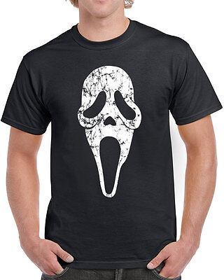 352 Scream Mask mens T-shirt horror film movie 90s slasher halloween knife retro - Scream Knife