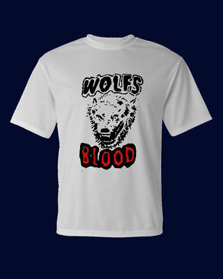 White T Shirt Halloween Blood (Wolfs Blood Men's White T-shirt Halloween 100% cotton S)