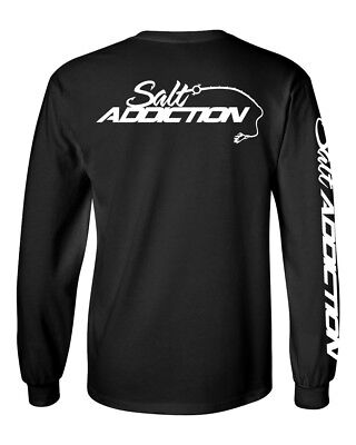 Salt Addiction long sleeve saltwater fishing t shirt life ocean Logo apparel