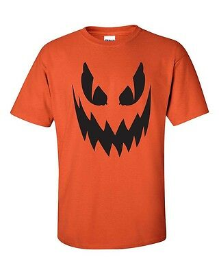 Pumpkin Scary Face Halloween Party Spooky Drinking College Men's T-Shirt 334