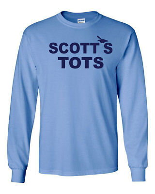 674 Scotts Tots Long Sleeve Shirt funny tv show michael costume office party new