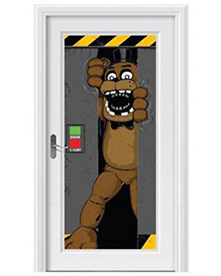 Five Nights At Freddy's Halloween (Five Nights At Freddy's Door Cover Birthday Party Decoration 2.25' x)