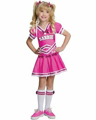 CK513 Barbie Cheerleader Pink Girls Sports Fancy Dress Up Halloween Costume - Sports Barbie Halloween Costume