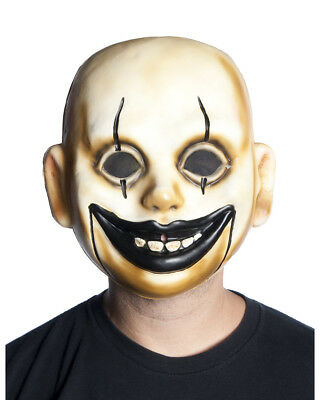 Circus Doll Costume (Adults Creepy Circus Clown Doll Comic Performer Baby Mask Costume)