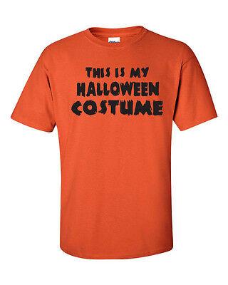 Funny Black Man Halloween Costume (THIS IS MY HALLOWEEN COSTUME FUNNY Trick or Treat BLACK PRINT Men's T shirt)