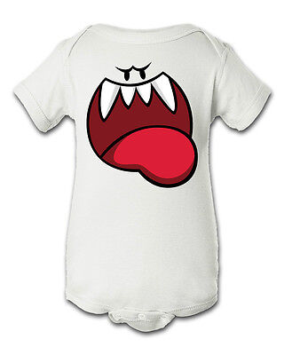 Ghost Boos Super Mario Inspired Infant Baby Newborn Onesie Halloween Costume