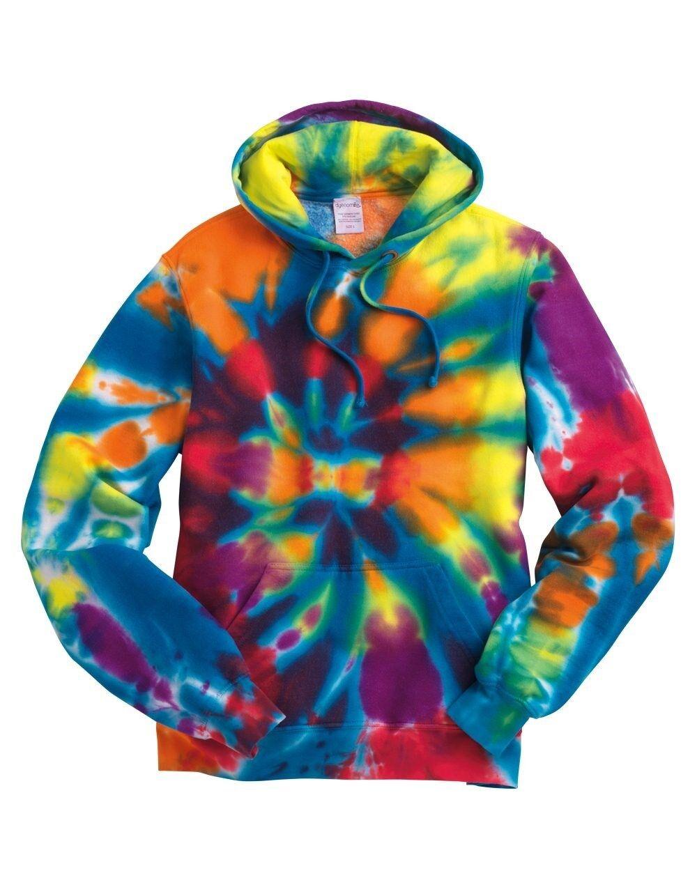 gran venta c15d9 03230 Detalles de Tie-Dye Espiral Arco Iris Hombre TALLAS CH-EG 2XL 3XL Sudadera  con Capucha Nuevo