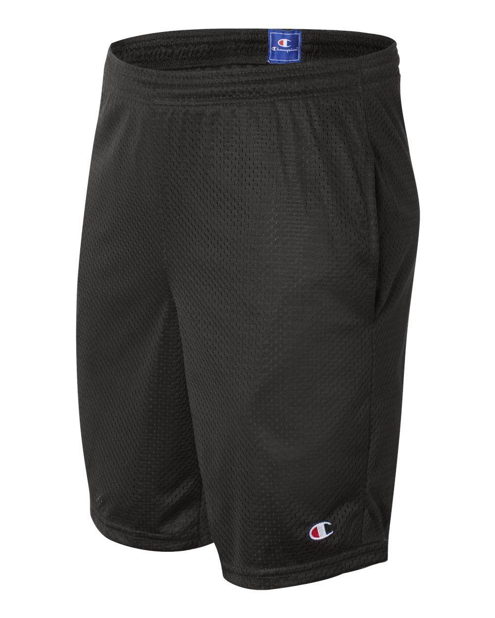NEW Champion Mens Size S-2XL Athletic Long Mesh Pocket Gym S