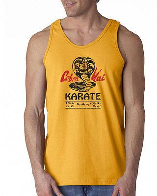 147 Cobra Kai Tank Top dojo karate movie 80s kid costume vintage no mercy - 80s Movie Costumes