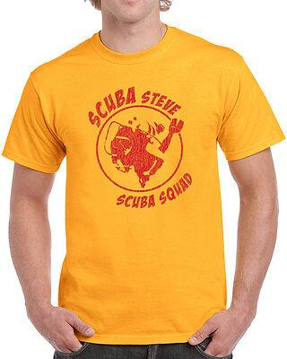 146 Scuba Steve mens T-shirt costume funny movie squad vintage cool retro new (Funny Movie Costume)