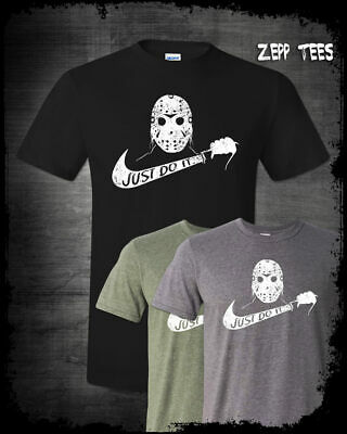 Jason Voorhees Just Do It Shirt Nike Parody Funny Halloween Friday The 13th 13