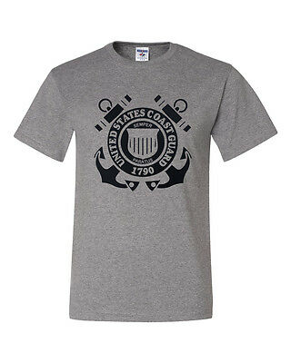 Us Coast Guard Shirts (NEW! US COAST GUARD 1790 Logo Gray and White T-shirts  )