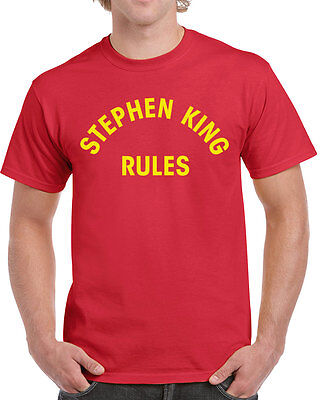 013 Stephen King Rules mens T-shirt funny halloween scary squad costume vintage - Funny Mens Halloween Costume