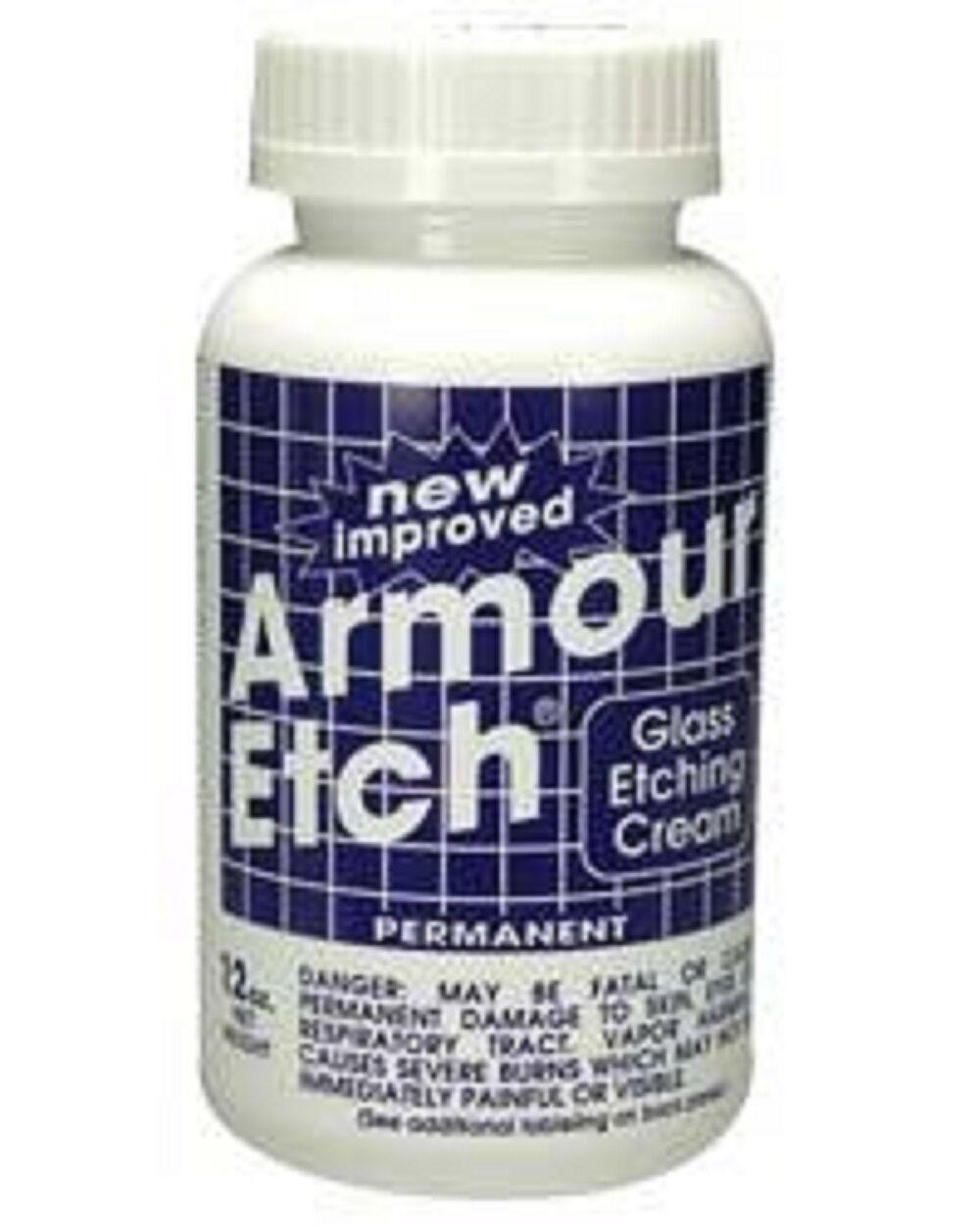 Armour Etch Glass Etching Cream - 10 oz  NEW