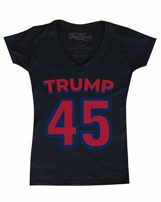 Trump 45 Women's V-Neck T-shirt MAGA Keep America Great Re-Elect Trump 2020  Tee America Womens V-neck T-shirt