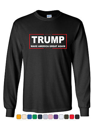 Trump Long Sleeve T Shirt Make America Great Again