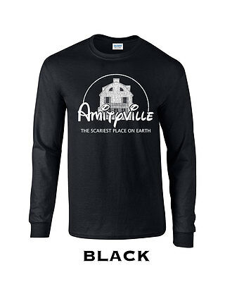 354 Amityville Long Sleeve scariest place earth funny horror film halloween