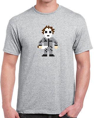 286 8 Bit Halloween mens T-shirts slasher 70s funny scary movie horror vintage](Vintage Halloween T Shirts)