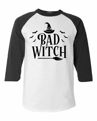 Best Halloween Custom (Bad Witch Blk Raglan Baseball Funny Matching Best Friends Halloween)