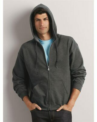 Men's Zip Full Hooded Sweatshirt Classic Fit Adult FLEECE First Quality S-5XL Classic Heavyweight Hooded Fleece