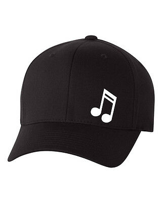 MUSIC NOTE DJ LOVE  FlexFit HAT CURVED or FLAT BILL ***FREE SHIPPING in BOX***