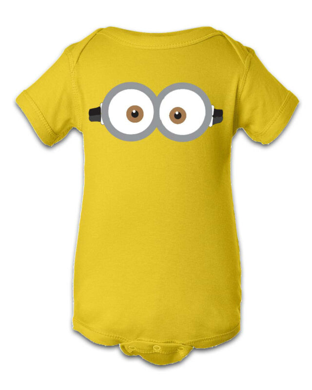 Minion Despicable Me Inspired Infant Tshirt Baby One Piece Creeper Bodysuit