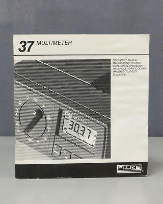 Fluke Mulitmeter Model 37 Operators Manual 0734