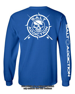 Salt Addiction t shirt long sleeve men's saltwater fishing apparel BONES life