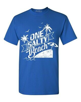 One Salty Beach T-shirt Funny Novelty Lake Beach Please Vacay Shirts - Beach Novelties