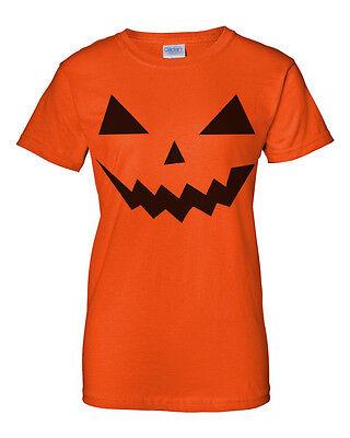 Halloween Costume Funny Easy Pumpkin Party Jack O'Lantern Orange Womens T - Easy Halloween Lanterns