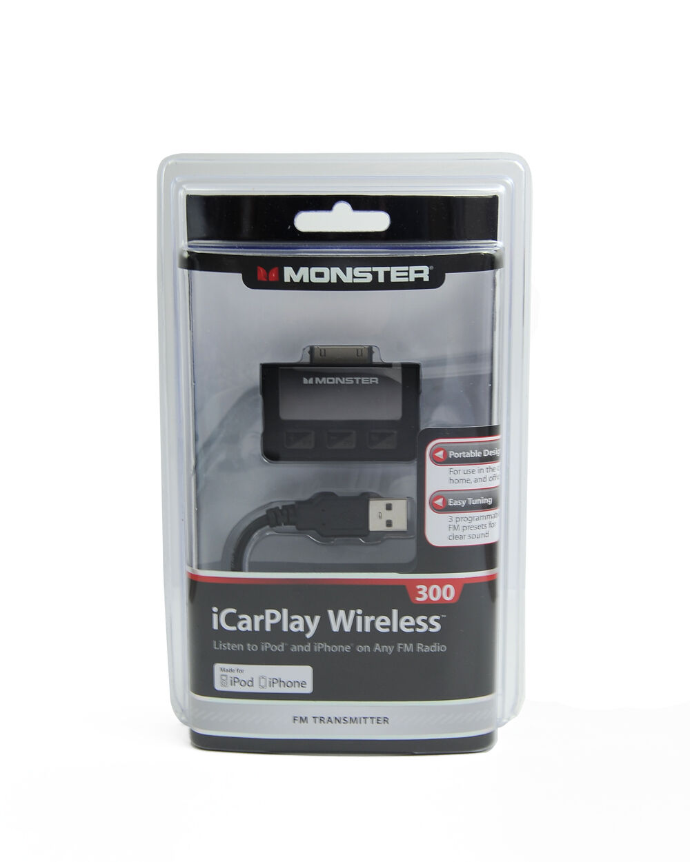 monster cable icarplay 300 wireless fm transmitter dock. Black Bedroom Furniture Sets. Home Design Ideas