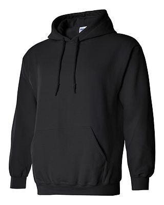 10 Gildan BLACK Adult Hooded Sweatshirts Bulk Lot Wholesale Hoodie - Adult Wholesalers