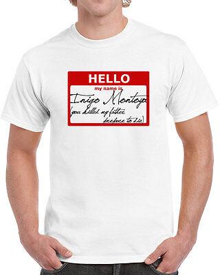 128 Hello My Name Is Inigo Montoya Mens T Shirt Princess Movie 80S Bride Funny