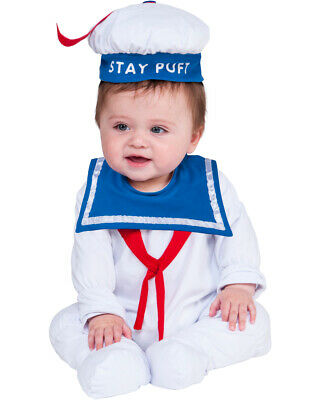 Baby Stay Puft (Childs Ghostbusters Stay Puft Marshmallow Man One-Piece Costume Infant)