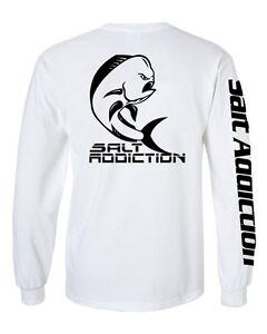Salt addiction long sleeve saltwater fishing t shirt life for Salt life long sleeve fishing shirts