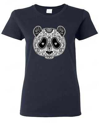 Sugar Skull Panda Women's T-Shirt Day of the Dead Dia De Los Muertos Halloween](Day Of The Dead Women)