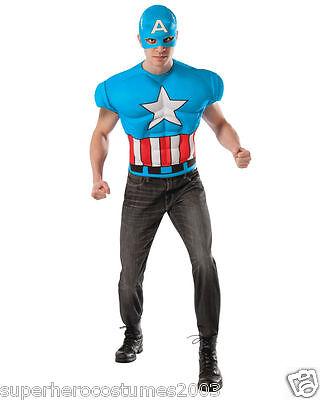 Captain America Erwachsene Klassisch Muskelkostüm Marvel Comics Rubies 820020