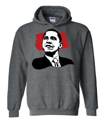 Barack Obama American President  Unisex Hoodie Hooded Sweatshirt Barack Obama Hooded Sweatshirt