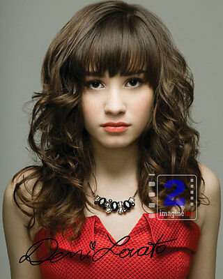 """Demi Lovato 8""""x 10"""" Signed Color PHOTO! REPRINT LOOK"""