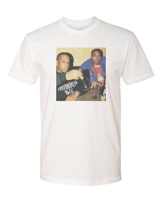 Jay Z And Nas Hip Hop Legends Custom T Shirt White New Size S 3Xl