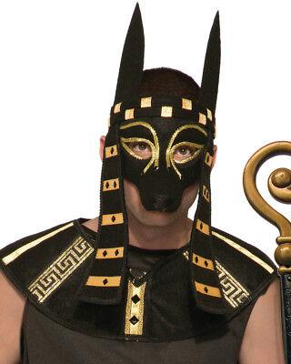 Mythical Creature Anubis Mask Men's Costume Accessory Black Dog Egyptian Roman (Egyptian Dog Costume)