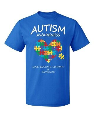 Autism Awareness Support Heart Puzzle (Colored) Men's T-shirt