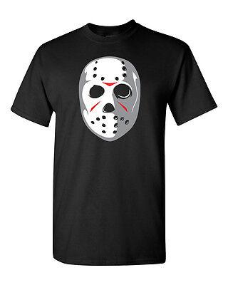 MASK Jason Voorhees Hockey Mask Friday 13th Halloween Men's Tee Shirt 1261